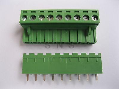 30 pcs Green 9 pin 5.08mm Screw Terminal Block Connector Pluggable Type<br>