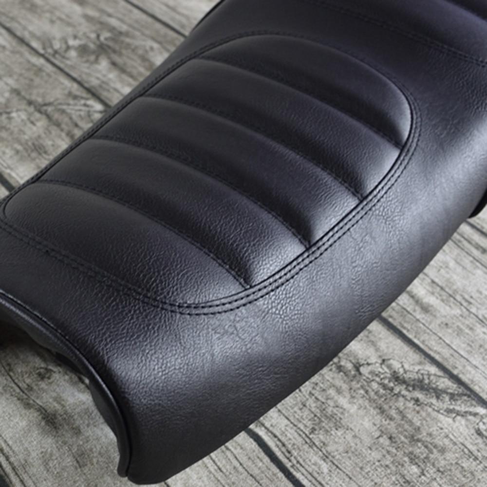 Mayitr Blcak Motorcycle Cafe Racer Seat Custom Vintage High Quality Saddle Flat Pan Retro Seat For U 200 250