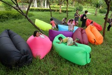 SECONDS POCKET DESIGN self - inflated air bean bag , outdoor waterproof beanbag chair, fast air sofa cushion(China)