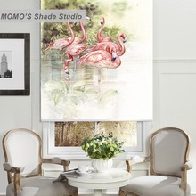 MOMO Painting Blackout Window Curtains Roller Shades Blinds Thermal Insulated Fabric Custom Size,PRB set660-663