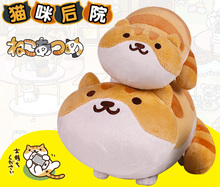 SAN-X toys anime mobile game Neko Atsume Kutusita Nyanko cat plush doll toys Kawaii mini Boots cat 20cm / 35cm free shipping(China)