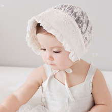 Nordic Vintage Style Baby Girl Lace Beanie Hat Infant Princess Hat Baby Summer Sun Bonnet Cap Dandelion Flower SW123