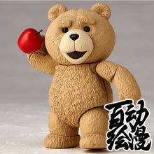 9.5CM 2017 high quality Cute kawaii anime figure teddy 006 action figure movable model toys for girls