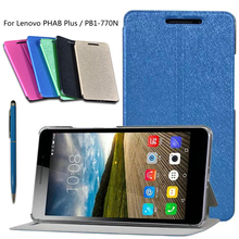 High-quality PU Leather Case Sleep Wake Up Smart Cover For Lenovo PHAB Plus PB1-770N PB1-770M 6.8 Tablet PC Phone + stylus