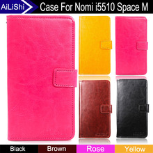 AiLiShi Factory Direct! Case For Nomi i5510 Space M Hot PU Flip Luxury Leather Case Cover Phone Bag Wallet Card Slot +Tracking(China)