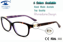 Brand Designer Eyeglasses Computer Fashion Luxury Spectacle Frame New Products For 2015 Pearl Diamond Glasses Frame Women