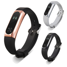 14mm Metal Wristband Business Style Strap Bracelet For Xiaomi Mi Band 2 Drop Shipping  Futural Digital JUN22