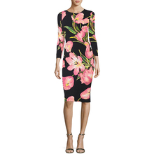 Buy Fenghua 2018 Women Spring Dress Casual Vintage Slim Sexy Bodycon Office Dress Elegant Floral Print Party Dress Female vestidos for $23.98 in AliExpress store