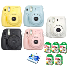 Fujifilm Instax Mini 8 Camera + 100PCS Fuji Instax Mini White film for Mini 8 70 25 SP-1 SP-2 Yellow Blue White Black Pink Color