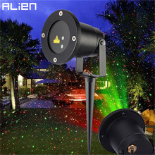 ALIEN Static Red Green Sparkling Star Laser Outdoor Waterproof Landscape Laser Light Christmas Holiday Xmas Tree Show Projector