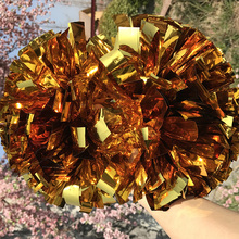 "2Pom pom Cheerleader Pom pom Metallic Gold Poms1,000*3/4"" *6"" sizes Don't Fade Fully Shinny Pom"