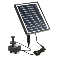 12V 5W Solar Power Solar Water Pump Built-in Storage Battery Remote Control Submersible LED Pump Fountain for Garden Pond