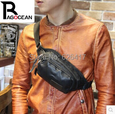 2017 High Quality PU Leather Mens Handbag Messenger Shoulder Sling CrossBody Chest Bag Free Shipping<br>