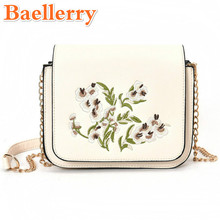 Baellerry Graceful Exquisite Embroidery Women Handbags Europe Style Lady Bags Fresh Floral Female Flap Chains Shoulder Bags 2017