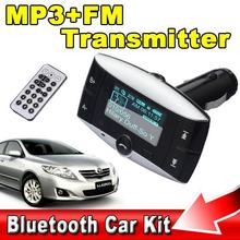 Bluetooth Car Kit Handsfree Calls MP3 Player FM Transmitter Remote Control USB/SD/MMC Support for Iphone for Samsung For Sony