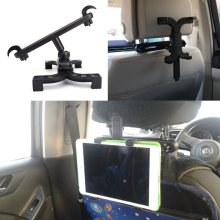360 Degree Car Back Seat Headrest Mount Holder for iPad mini/1/2/3/4/Air Galaxy Tablet PC Stands Car(China)