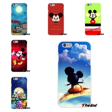 Love Popular Cute Mickey Mouse Ultra Thin Rubber Silicone Phone Case For iPhone 4 4S 5 5S 5C SE 6 6S 7 Plus