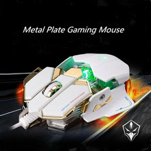 Professional USB Wired steelseries Mouse 4000DPI Gaming Mouse for laptops desktops  computer mouse10 Buttons free shipping