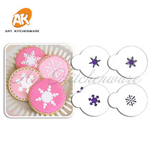 Mini Snowflakes Cupcake Stencil, Cupcake Supplies, Tool kit Cake Decorating, Candy/Cookie Tops Stencil Template, Coffee Stencil(China)