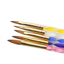 5PCS/Set Acrylic Gel Pen Professional Paint Drawing Brush Kit Nails Art Polish Drawing Brushes Dotting Tools Pinceles Ongles(China)