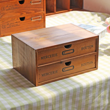 Wooden Storage Cabinet Vintage Wooden Storage Case Drawer Makeup Storage Boxes Home  Decoration Supplies