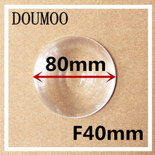 Diameter 80 mm Fresnel Lens Focal length 40 mm High light condenser Fresnel Lens used Solar concentrator circle fresnel lens(China)
