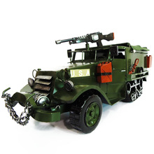American World War II Military Half Track Armored Vehicle Model Creative Iron Truck Craft Gift Free Shipping