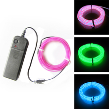 1M 3M 5M 3V Flexible Neon Light Glow EL Wire Rope Cable Strip LED Shoes Clothing Car Waterproof LED Strip New Party Decor Hot