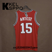 Custom Adult Throwback Basketball Jerseys #15 Ron Artest St John's Embroidered Basketball Jersey Size XXS-6XL(China)