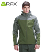Rax Outdoor Waterproof Softshell Men Outdoor Warm Windproof Camping Hiking Jacket Lightweight Windbreaker Men Fleece Jacket Men