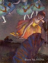 Art gift Ballet seen from a loge Edgar Degas Oil paintings on canvas Handmade High Quality(China)