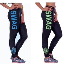 RALONEX High Waist Stretched Women's Sports Pants Gym Clothes Spandex Running Tights Women Sports Leggings Fitness Yoga Pants