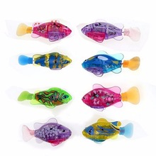 1pcs Funny Swim Electronic Robofish Activated Battery Powered Robo Toy fish Robotic Pet for Fishing Tank Decorating Fish 8*3.5cm(China)