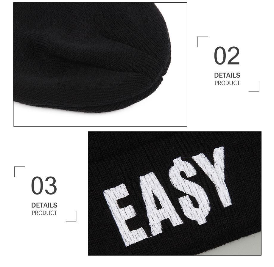 ADK Embroidery Men Women Black Cap Winter Warm 2018 New High Quality Brand Fashion Casual Hats Unisex #CAP188 (4)