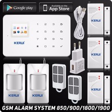 Kerui G18 Wireless GSM SMS Home Security Alarm System IOS Android iPhone APP Control TFT Touch Panel Motion Sensor Door Sensor