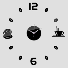 2016 wall clock quartz watch diy clocks acrylic mirror modern 3d stickers reloj de pared horloge Living Room coffee wall sticker