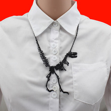 2017 Women Fashion Hot Sell Black/gold/Silver Jewelry Dinosaur Skeleton Pendant Halloween Necklace Gift Girls Lady EB87