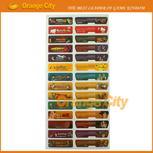 28pcs=14sets/lot Game Theme Sticker Lables Set Game Shell Seals Label Personalized Stick for Gameboy Advance for GBA Console