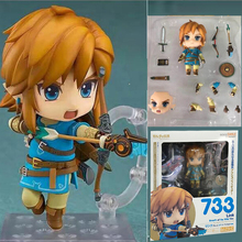 The Legend Of Zelda Breath Of The Wild Version Link Mini Figure733 Link PVC Action Figure Toy Christmas Gift for Kids(China)
