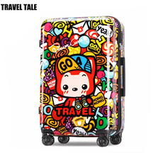 TRAVEL TALE kids luggage 20 carry on koffers trolleys suitcase on wheels