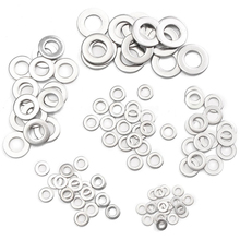 105pcs/set Stainless Steel Flat Washer Metric Flat Washers Assortment Kit Set M3-M10 For Hardware Accessories