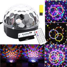 Professional Voice Control Stage Light MP3 IR Remote Digital RGB LED Crystal Magic Ball DI Party Disco Stage Light Sound Active