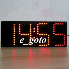 Red LED ECL-132 DIY Clock Kit Remote Control Clock Suit LED Time Screen Display Kit