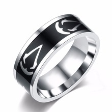 Buy Titanium Steel Assassins Creed Ring Size 7~13 Assassins Creed Master Logo Symbol 8MM Titanium Steel Ring Rings Accessory for $1.52 in AliExpress store