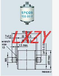 Discharge fuse LN8A450DC2 B88069X1983B102 1200V<br>