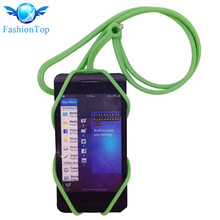 Universal Silicone Lanyard Holder Sling Neck Strap For Mobile Phone Solid Color Simple Trendy Frame Protective straps