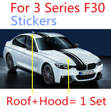 2pcs Lastest design M performance style Limited edition car body sticker decal suitable for BMW F30 F10 320 325 330 335 340 328i(China)