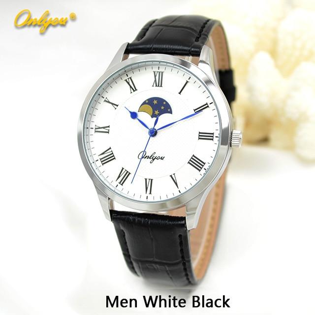 Onlyou Brand Fashion Casual Watch Women Men Genunie Leather Quartz Watch Boys Girls Ladies Dress Watch Male Clock Watch 81037<br><br>Aliexpress