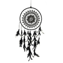 Black Dream Catcher Net Wind Chimes Indian Style Feather Pendant Dreamcatcher Creative Car Hanging Decoration For Home