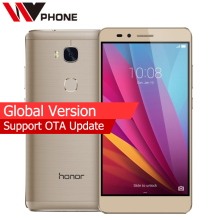 "Global Version Original HuaWei Honor 5X  2GB Ram 16GB Rom 4G LTE Mobile Phone  Octa Core 5.5"" FHD 1080P  13.0MP Fingerprint"